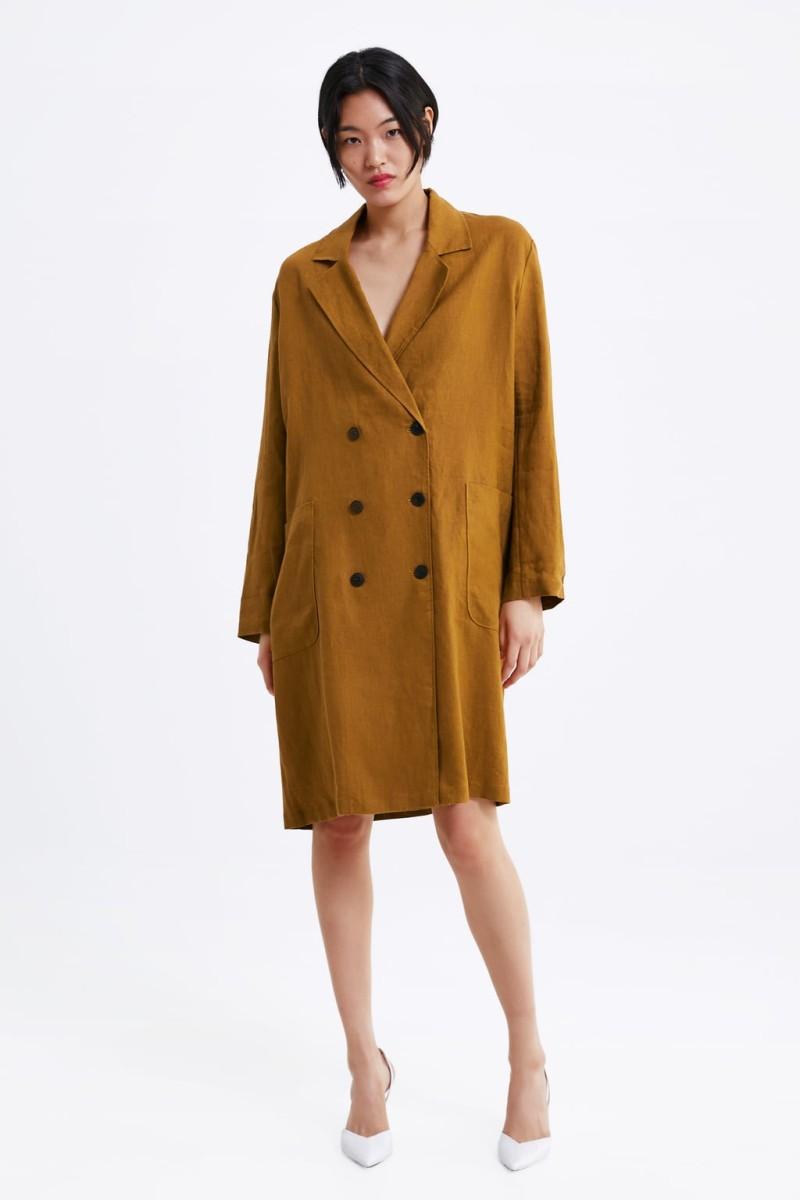 Zara καπαρντίνα νέα συλλογή άνοιξης 2019 διαχρονική