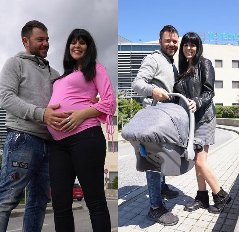 Οι φωτογραφίες με τον Ευτύχη Μπλέτσα και την γυναίκα του μετά το εξιτήριο