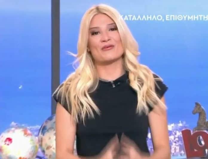 Φαίη Σκορδά: Μαυροφορούσα στην πρώτη εκπομπή της Μ.Εβδομάδας η παρουσιάστρια! (Βίντεο)
