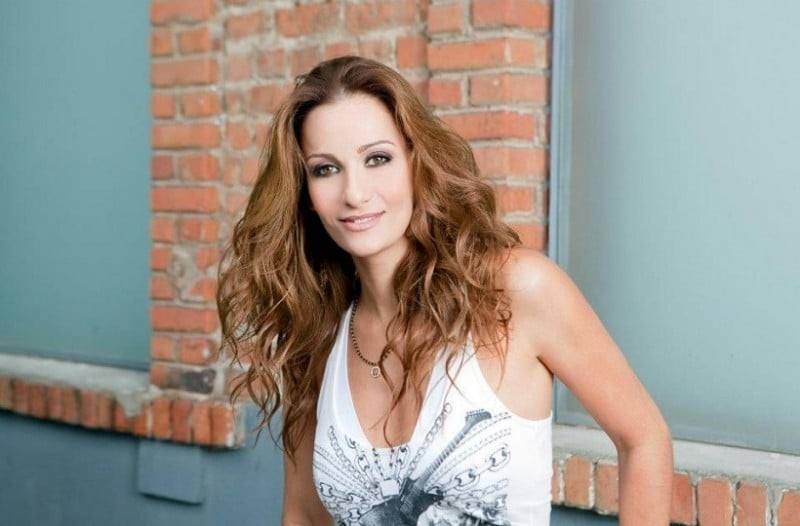 Η τραγουδίστρια Δέσποινα Ολυμπίου