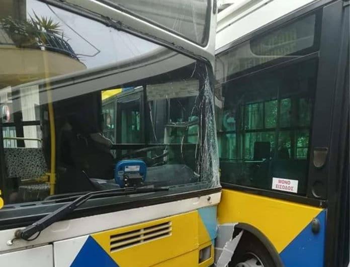 Συγκρούστηκαν λεωφορεία στη Θεσσαλονίκη! Τραυματίστηκε 10χρονο και η μαμά του!