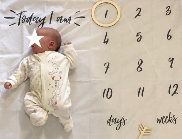 Το μωρό της έκλεισε τον πρώτο μήνα και το ανακοίνωσε με την πιο τρυφερή φωτογραφία!