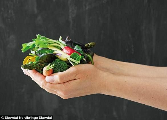χούφτα με λαχανικά