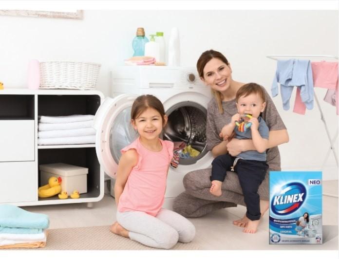 Διπλή δράση για υγιεινά καθαρά ρούχα!