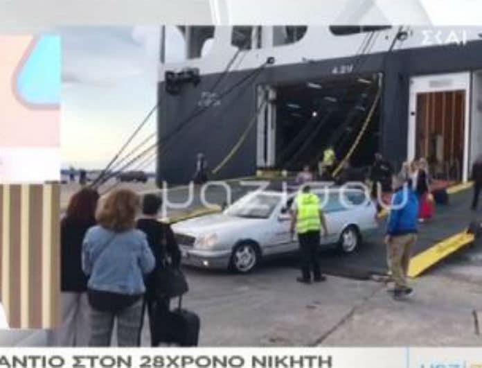 Κηδεία Πάνου Ζάρλα: Ανατριχιάζει η στιγμή που η νεκροφόρα βγαίνει από το πλοίο! (Βίντεο)