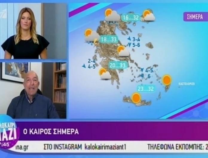 Τάσος Αρνιακός: Ανεβαίνει η θερμοκρασία! Οι μοναδικές περιοχές που θα έχουν βροχές! (Βίντεο)
