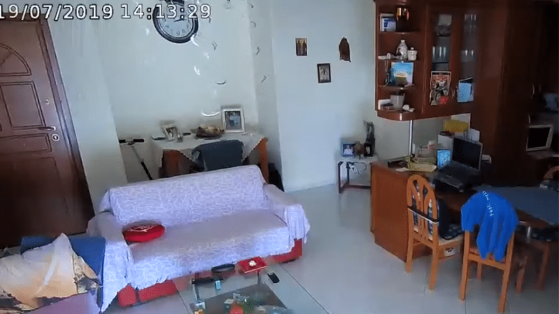 Βίντεο: Η ώρα του ισχυρού σεισμού σε σπίτι στο Νέο Ηράκλειο