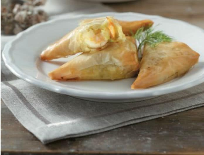 Φτιάξε εύκολα πιτάκια με γαρίδα, πράσο και κιτρινόριζα!