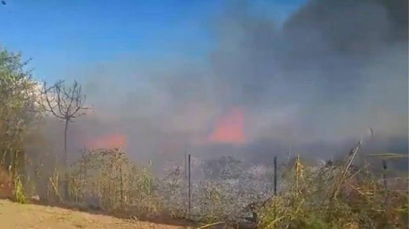Καλαμάτα: Μεγάλη πυρκαγιά απέναντι από το αεροδρόμιο! (Βίντεο)
