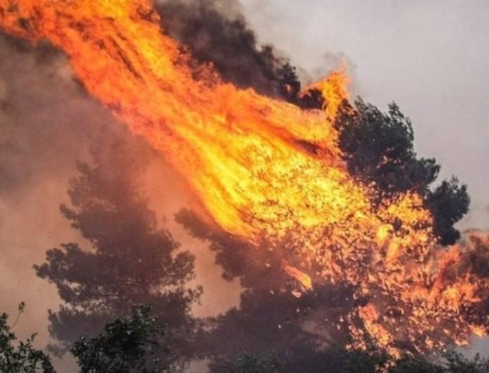 Μεγάλη φωτιά στα Σπάτα! Yπάρχουν σπίτια σε κοντινό σημείο!