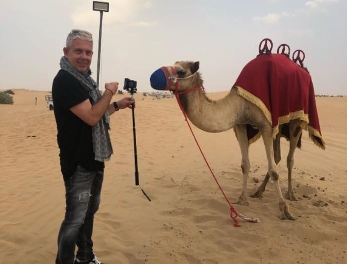 Εικόνες: Ο Τάσος Δούσης ταξιδεύει στο μαγευτικό Ντουμπάι! (Βίντεο)