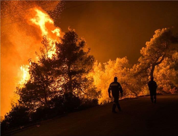 Φωτιά στην Εύβοια: Ραγδαίες οι εξελίξεις! Τρόμος για τους ανέμους!