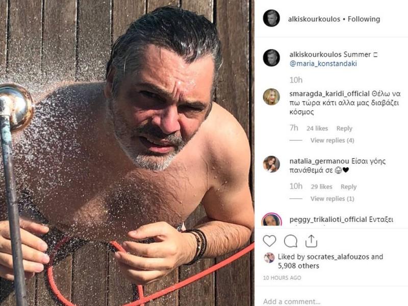 Γνωστός Έλληνας ηθοποιός όπως δεν τον έχετε ξαναδεί! Η ημίγuμνη φωτογραφία που έφερε «βροχή» από σχόλια επώνυμων!