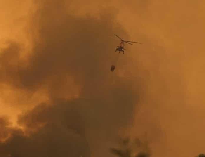 Απειλεί οικισμό η φωτιά στη Λούτσα! Φθορές σε ένα σπίτι!