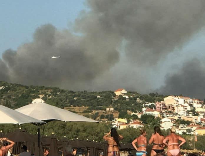Φωτιά στην Σάμο! Εκκενώθηκαν 2 ξενοδοχεία! (Βίντεο)