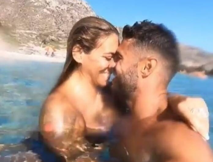 """Ευρυδίκη Βαλαβάνη: Τα ρουφηχτά φιλιά μέσα στη θάλασσα με τον Βασάλο! Θα τον """"έπνιγε""""! (Βίντεο)"""