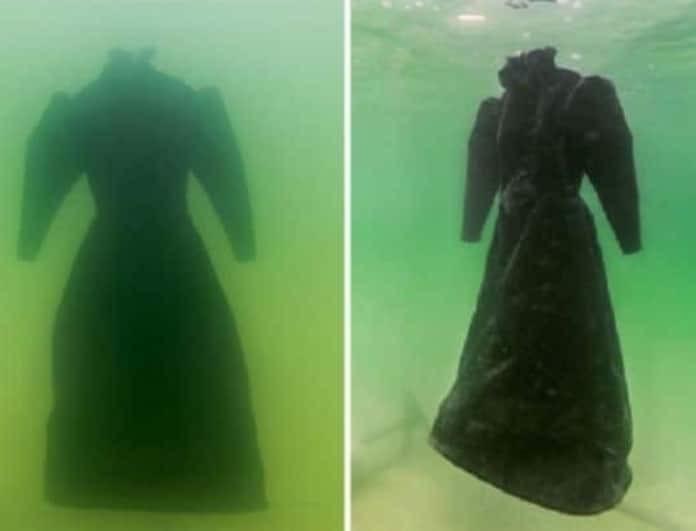 Τρομακτικό: Δείτε πώς έγινε το νυφικό δύο χρόνια μετά στον βυθό της θάλασσας!