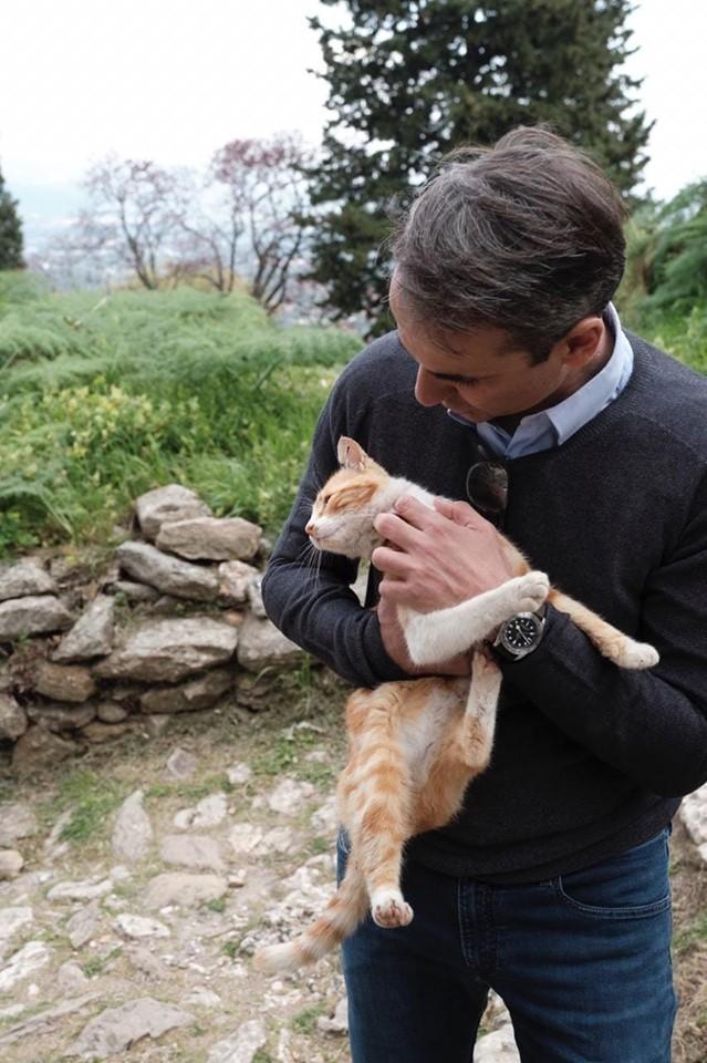 Κυριάκος Μητσοτάκης: Η ευαίσθητη πλευρά του πρωθυπουργού! Στο πλευρό των αδέσποτων...