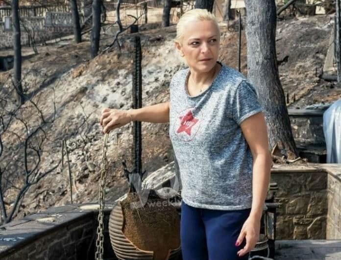 Χριστίνα Λαμπίρη: Πώς είναι το σπίτι της μετά την πυρκαγιά στο Μάτι;  Δείτε φωτογραφία!