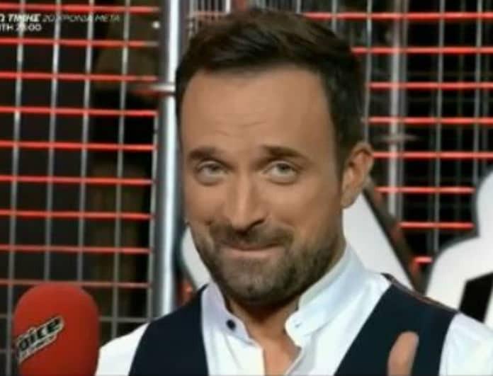 The Voice: Διαγωνιζόμενος ανέβηκε στην σκηνή και αποκάλυψε την συνάντηση του με τον Γιώργο Λιανό! (Βίντεο)