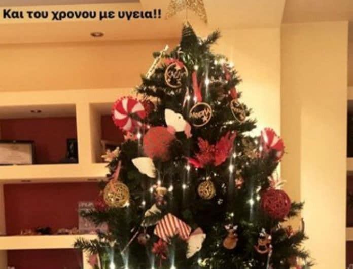 Σε λίγους μήνες θα γίνει μαμά και στόλισε το πιο όμορφο Χριστουγεννιάτικο δέντρο!