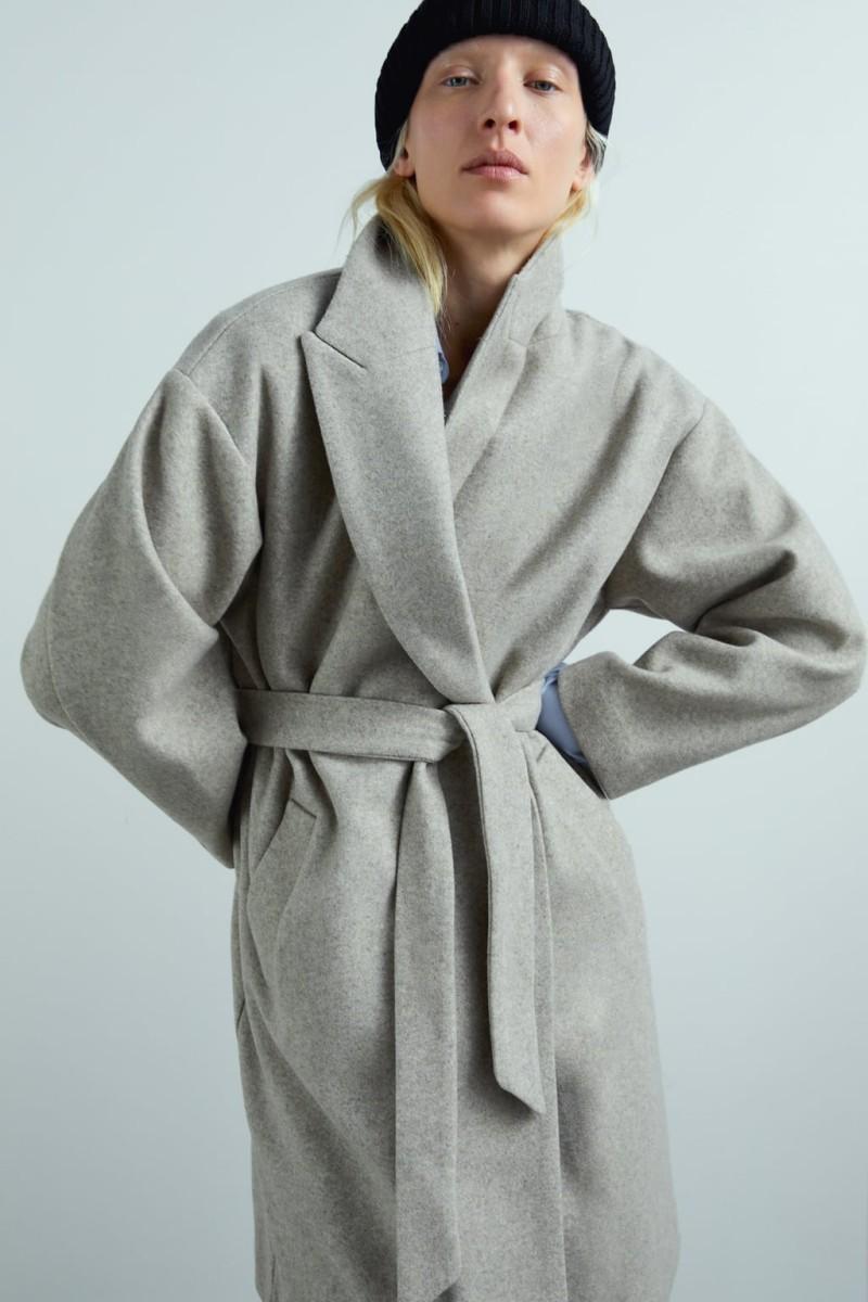 Zara παλτό με ζώνη