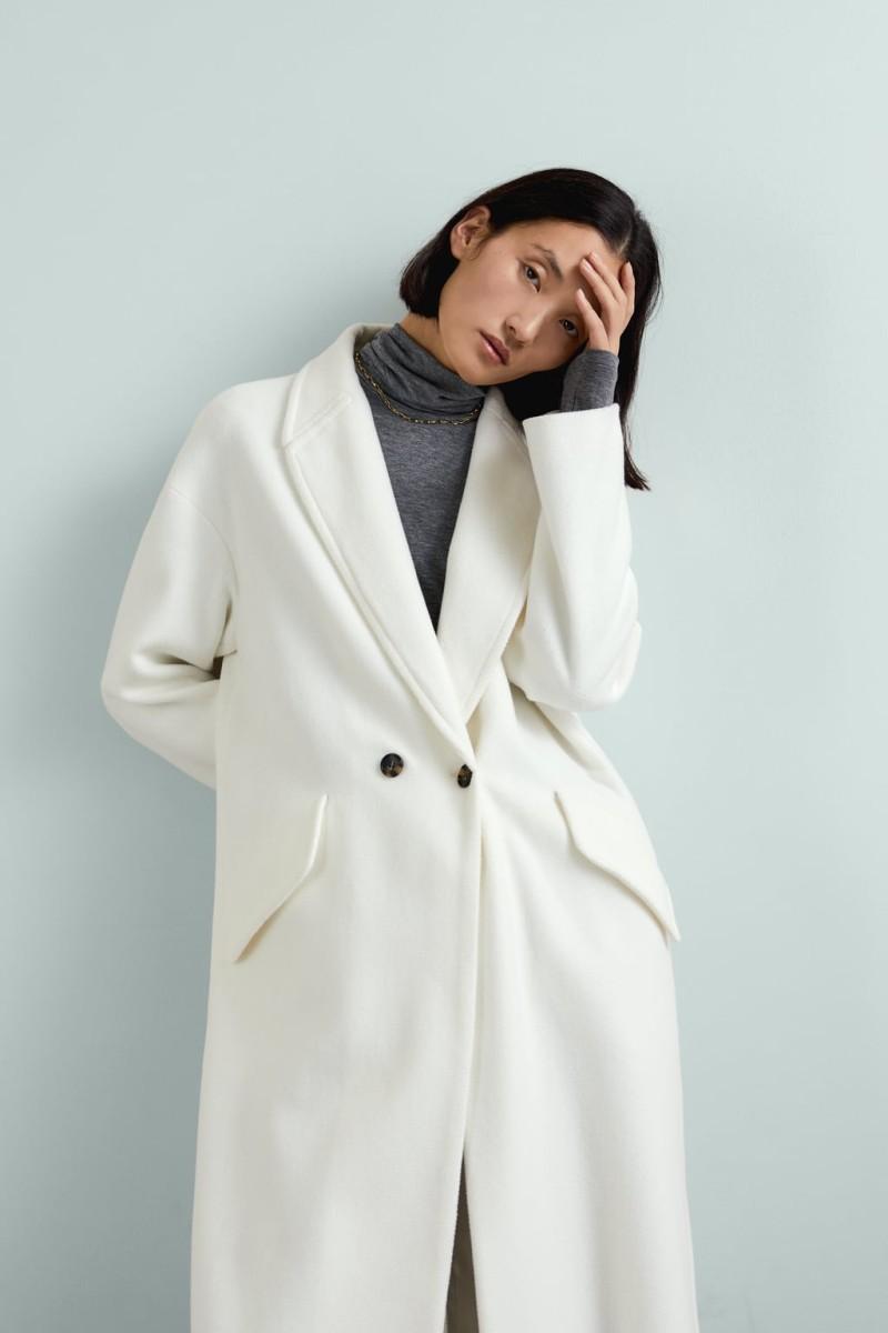 zara χειμώνας παλτό με κουμπιά