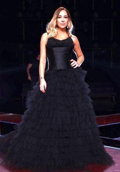 Μελίνα Ασλανίδου μαύρο φόρεμα