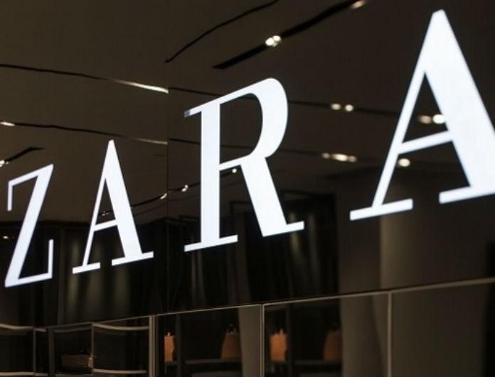 Zara: Το μαύρο αισθησιακό φόρεμα που μπροστά είναι κλειστό μέχρι τον λαιμό και πίσω είναι έξω... όλη η πλάτη!