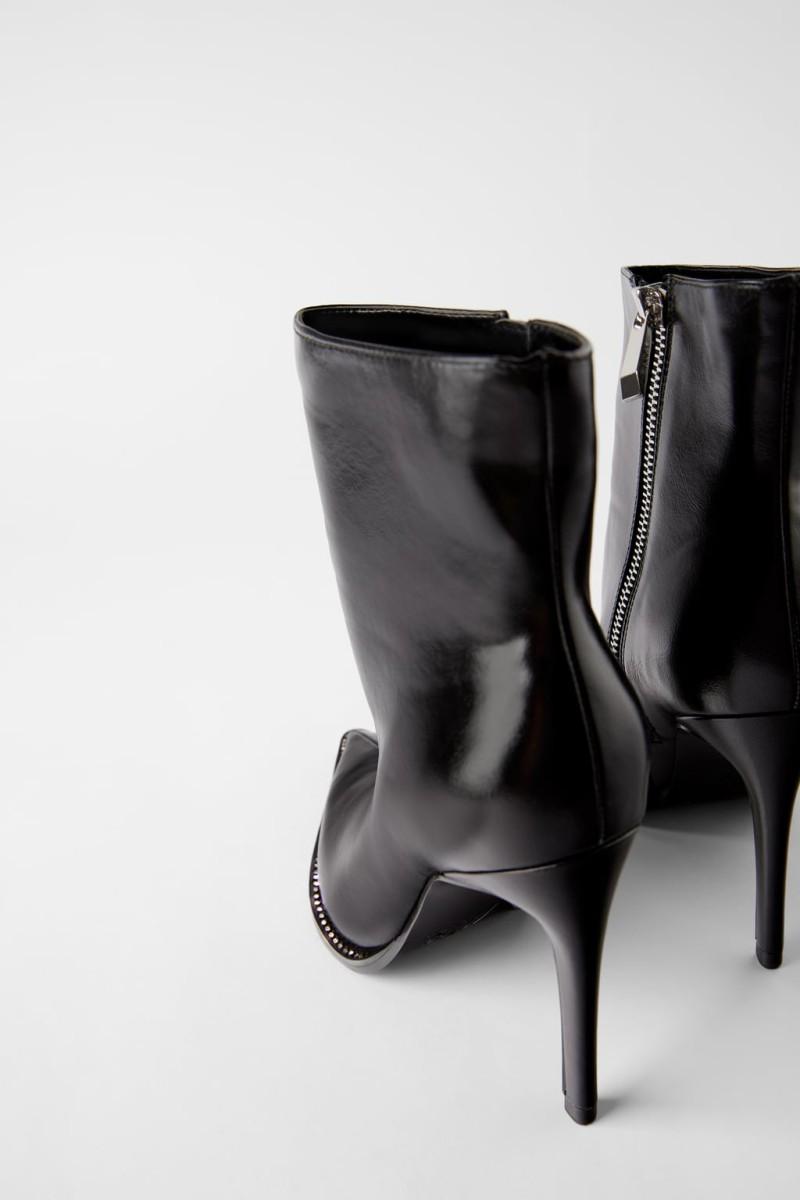 δερμάτινα παπούτσια Zara νέα συλλογή