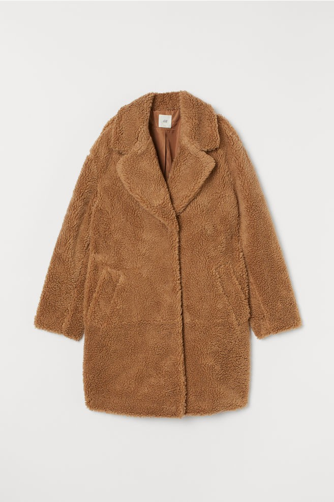 teddy bear coat H&M