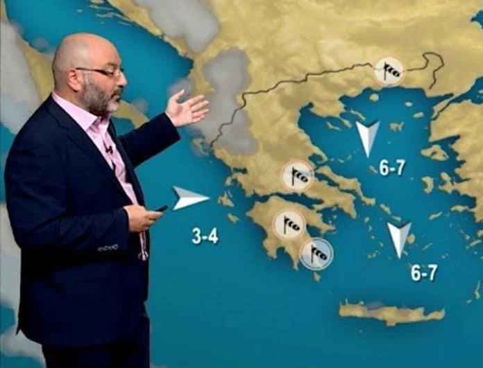 Ο Σάκης Αρναούτογλου προειδοποιεί: Ποια νησιά θα χτυπήσουν οι βροχές; Πού θα έχουμε ηλιοφάνεια!