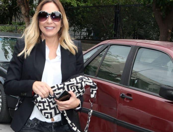 Μελίνα Ασλανίδου: Φόρεσε κολάν από δέρμα που γυάλιζε από μακριά! Οι 12ποντες γόβες της, έκαναν «χαμό»!