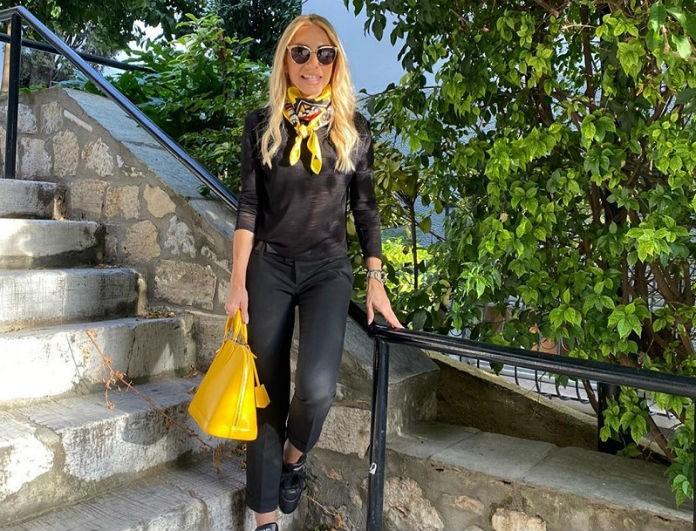 Έλενα Τσαβαλιά: Έλαμπαν από μακριά τα χρυσά της σκουλαρίκια!