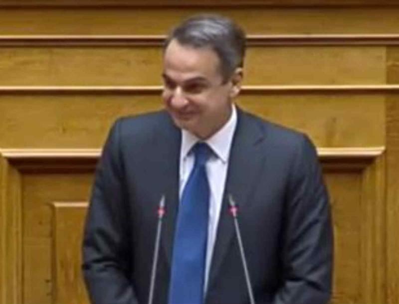 Ο Κυριάκος Μητσοτάκης ευχήθηκε για τον Άγιο Βαλεντίνο στη Βουλή
