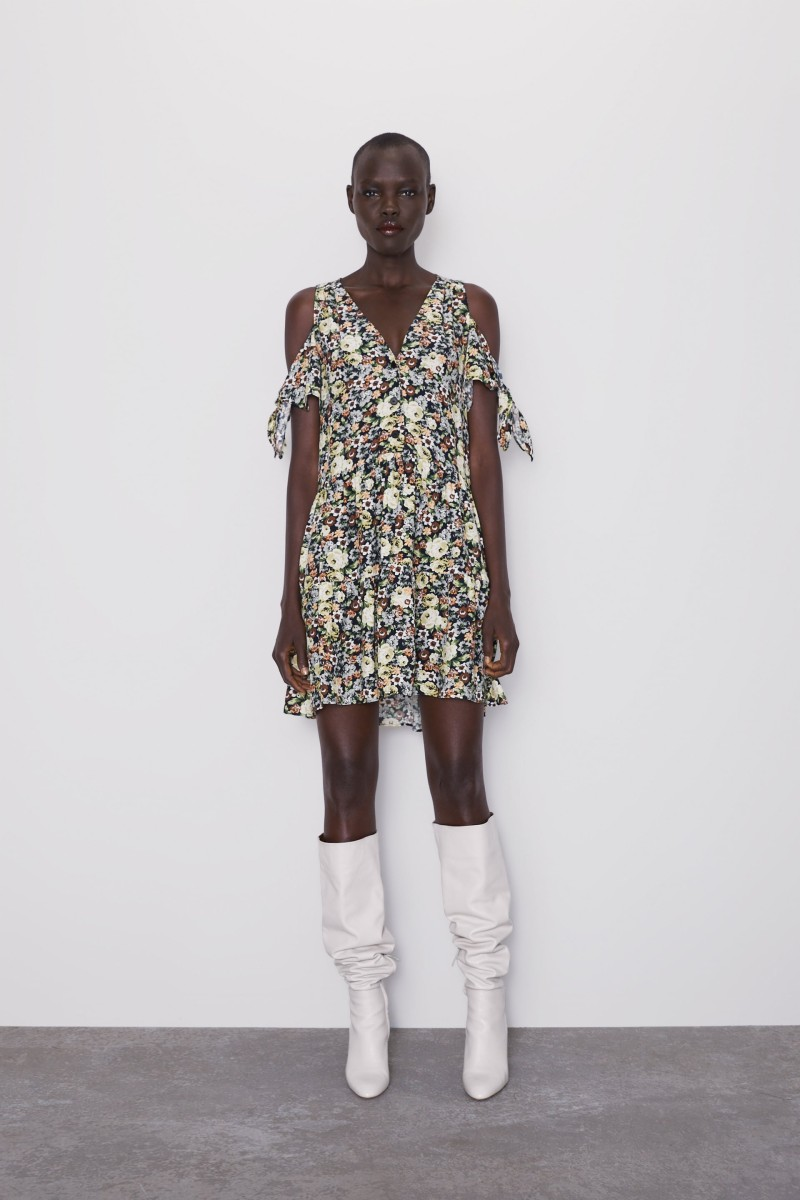Zara φλοράρ φόρεμα