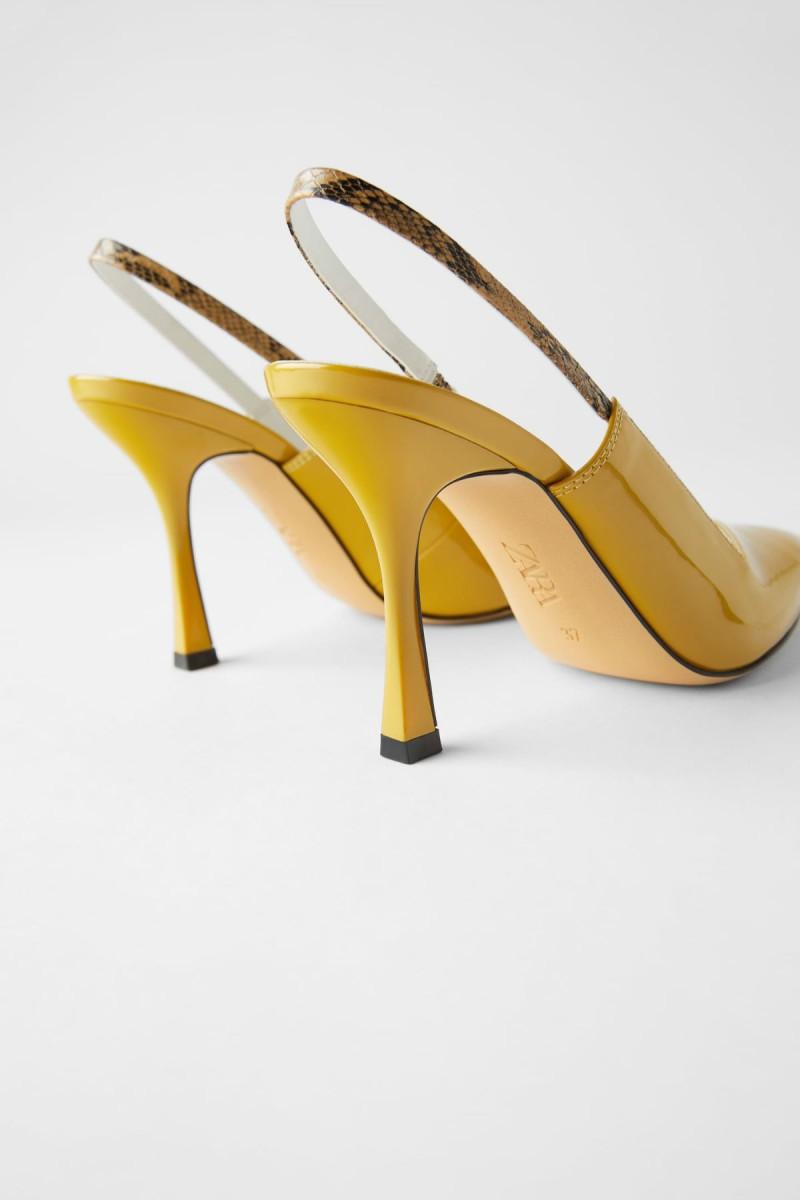 Zara κίτρινες γόβες