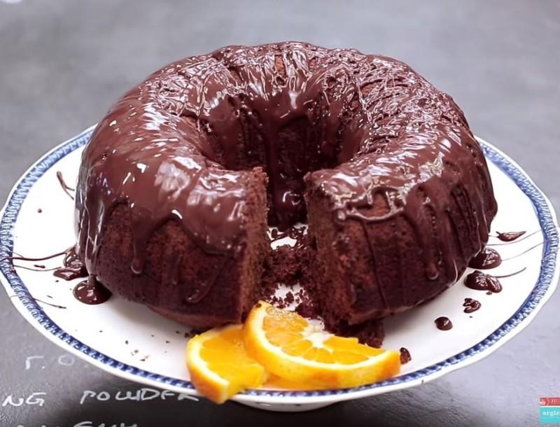 Νηστίσιμο κέικ πορτοκάλι/σοκολάτα χωρίς αυγά