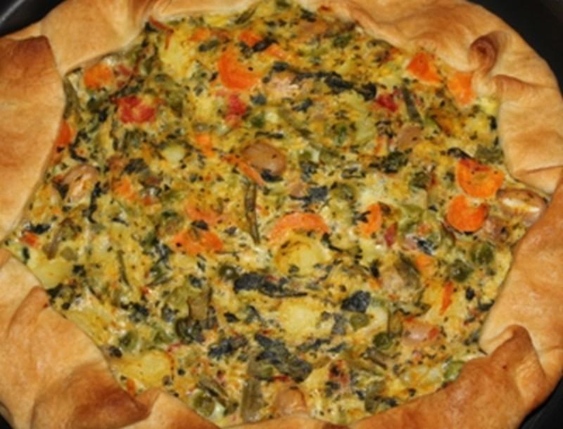 Ανοιχτή πίτα λαχανικών με λεμόνι της Βέφας Αλεξιάδου