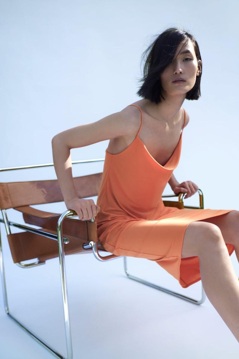 Zara πορτοκαλί φόρεμα