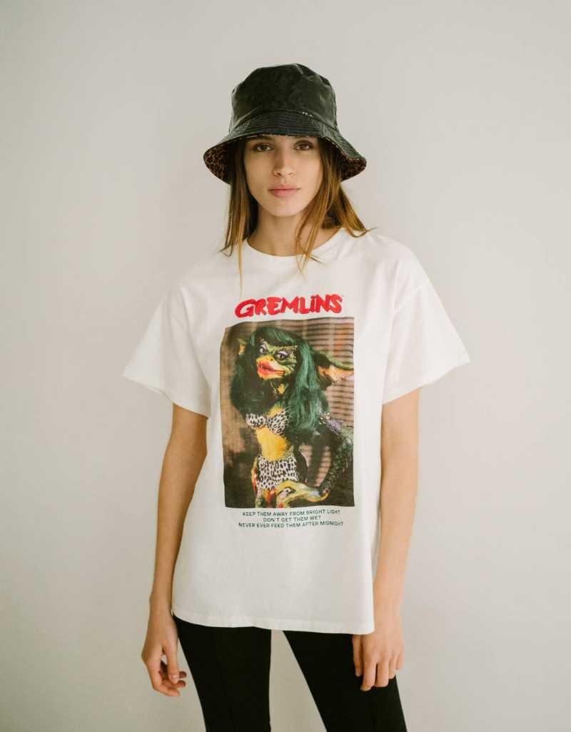 Bershka μπλούζα με στάμπα