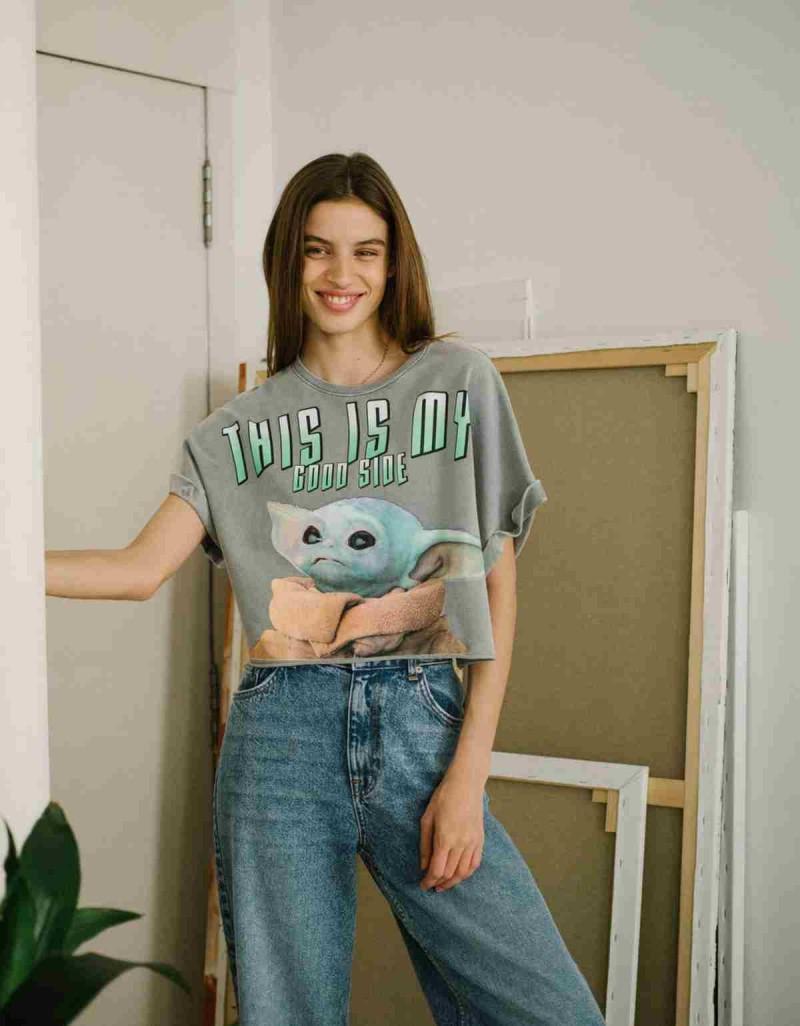 Bershka μπλούζα με σχέδιο