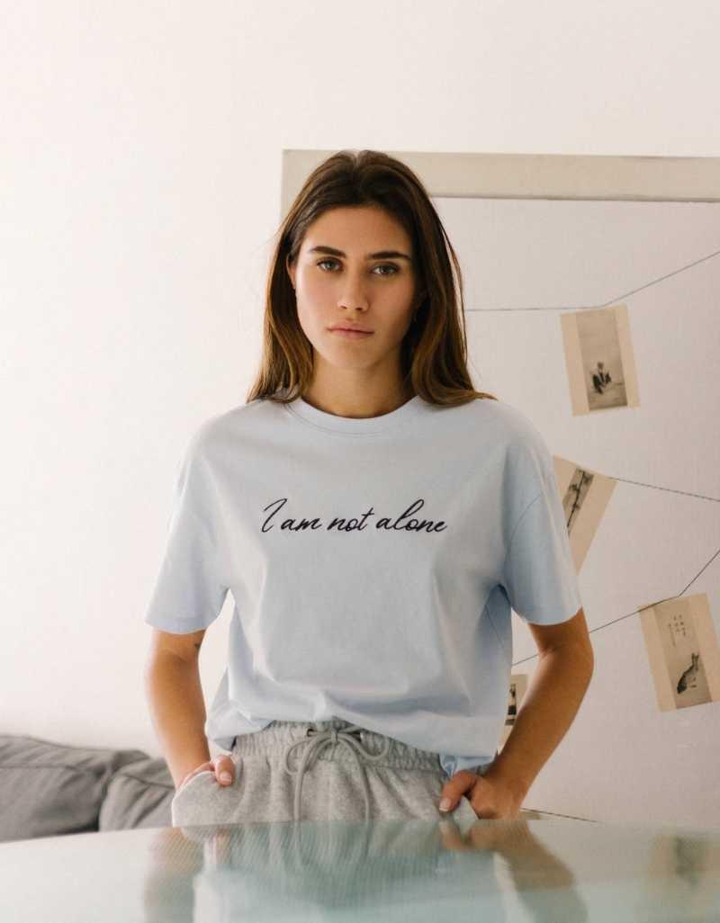 Bershka μπλούζα με σχέδιο γράμματα