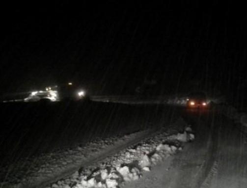 Σφοδρή χιονόπτωση αυτή την ώρα και στα ορεινά Τρικάλων