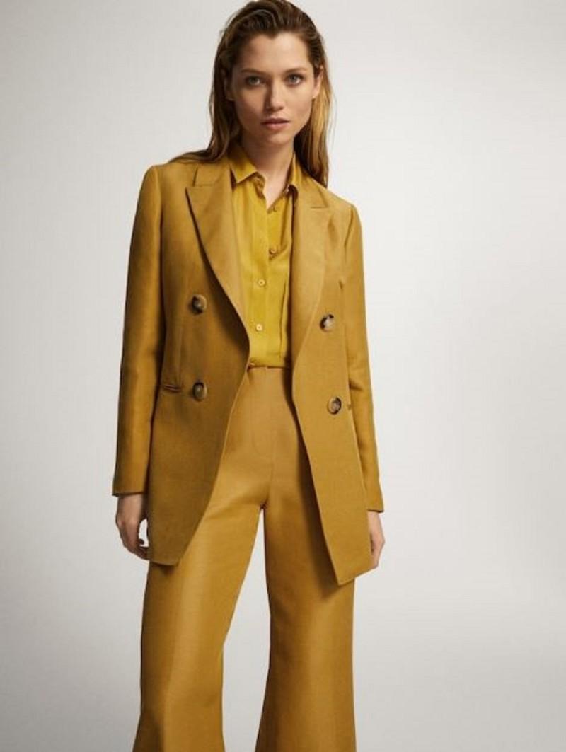 κίτρινο σακάκι Massimo Dutti