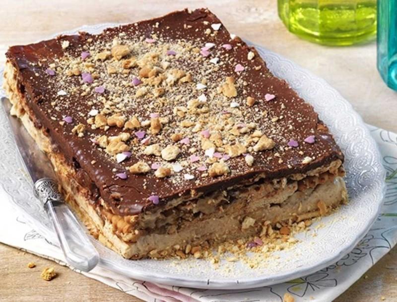 Μερεντογλυκό με μπισκότα πτι μπερ - Συνταγή «κόλαση»