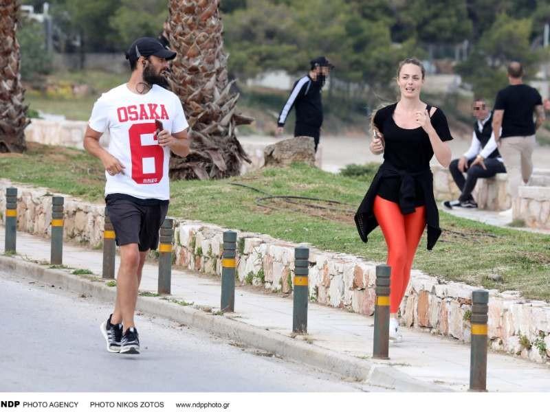Αντωνία Καλλιμούκου - Νίκος Παραδείσης για τρέξιμο