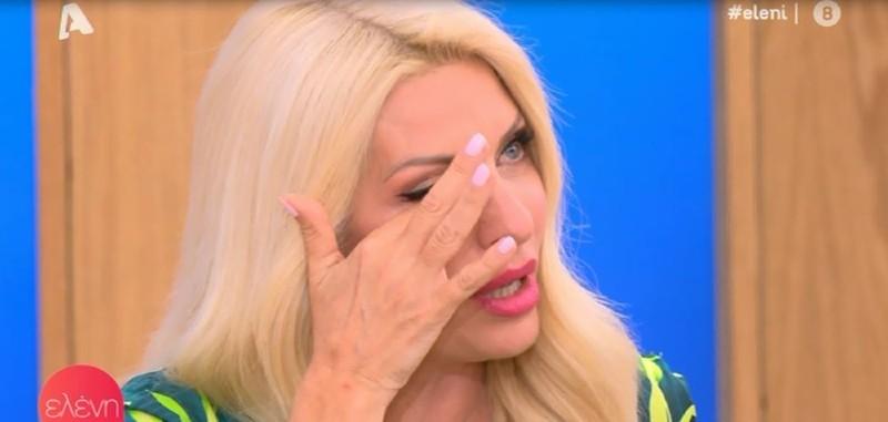 Ελένη Μενεγάκη εκπομπή ALPHA κλάματα