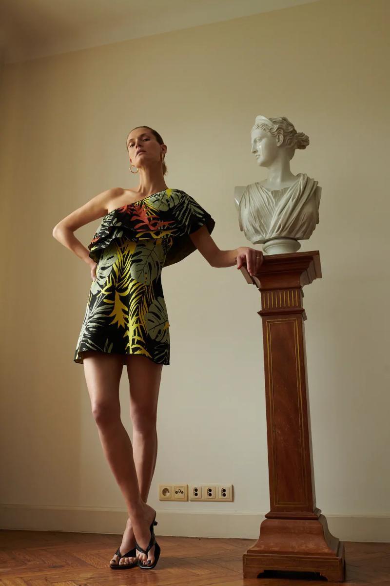 Zara φόρεμα printed