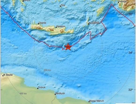 Σεισμός τώρα: Ξανά κουνήθηκε η Κρήτη